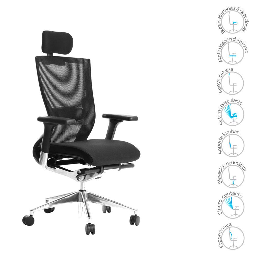 Silla tabay tela muebles axis for Catalogo sillas oficina