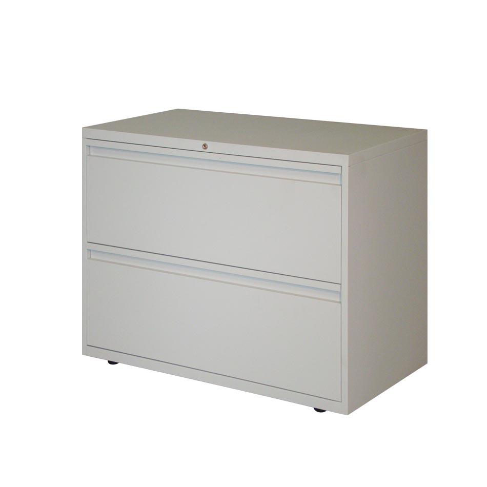 Archivador horizontal dos gavetas muebles axis for Muebles de oficina con llave