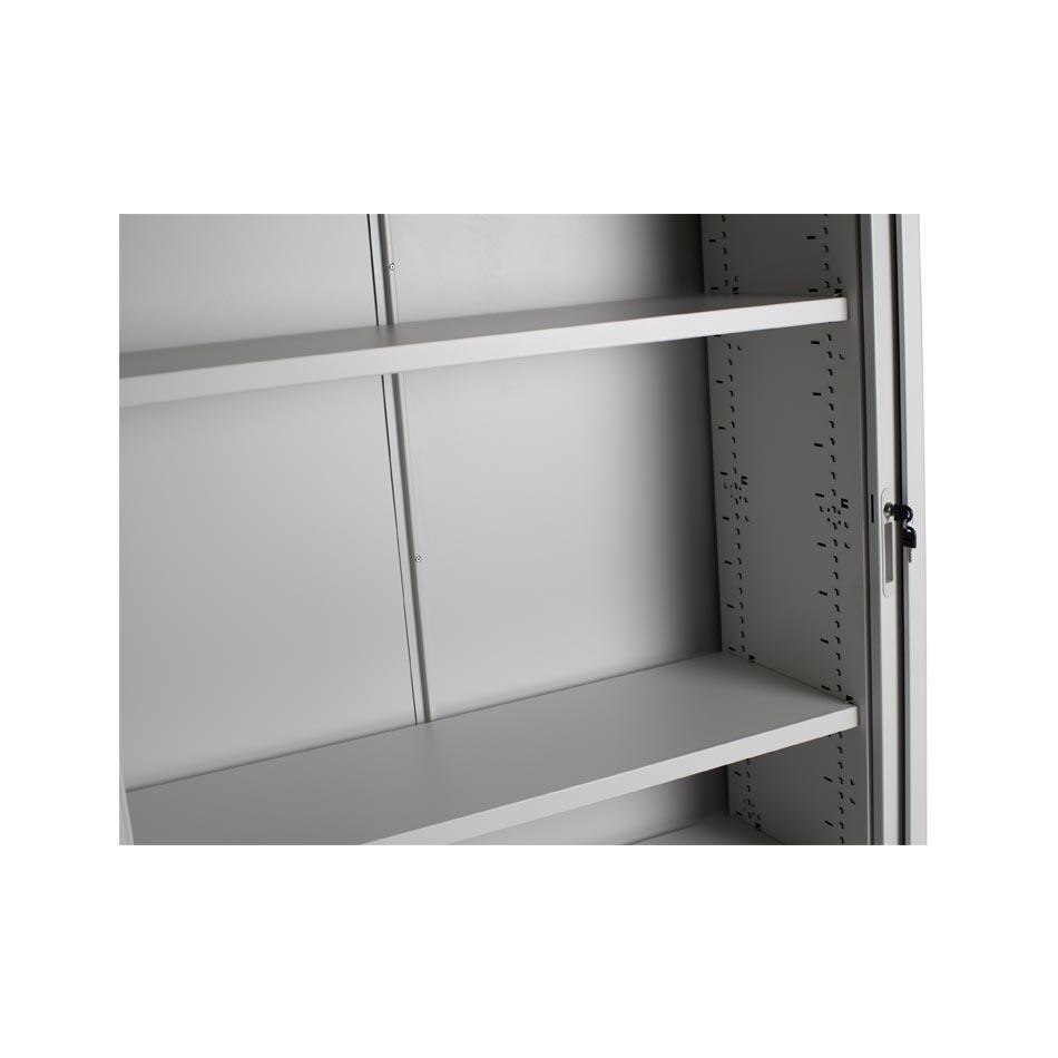 Biblioteca con puertas corredizas tipo persiana muebles axis - Tipos de puertas corredizas ...